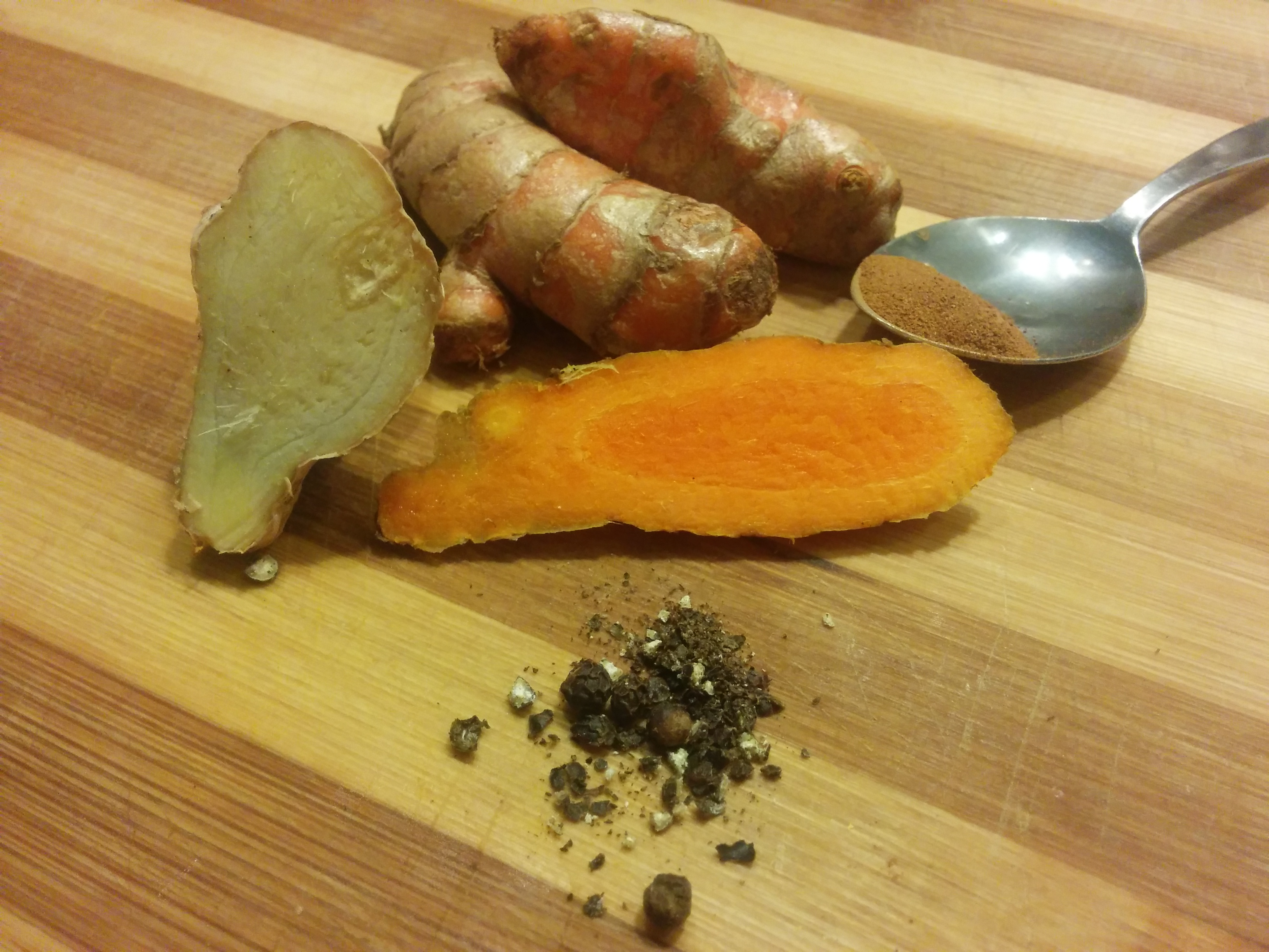 Ingredients for Turmeric Tea