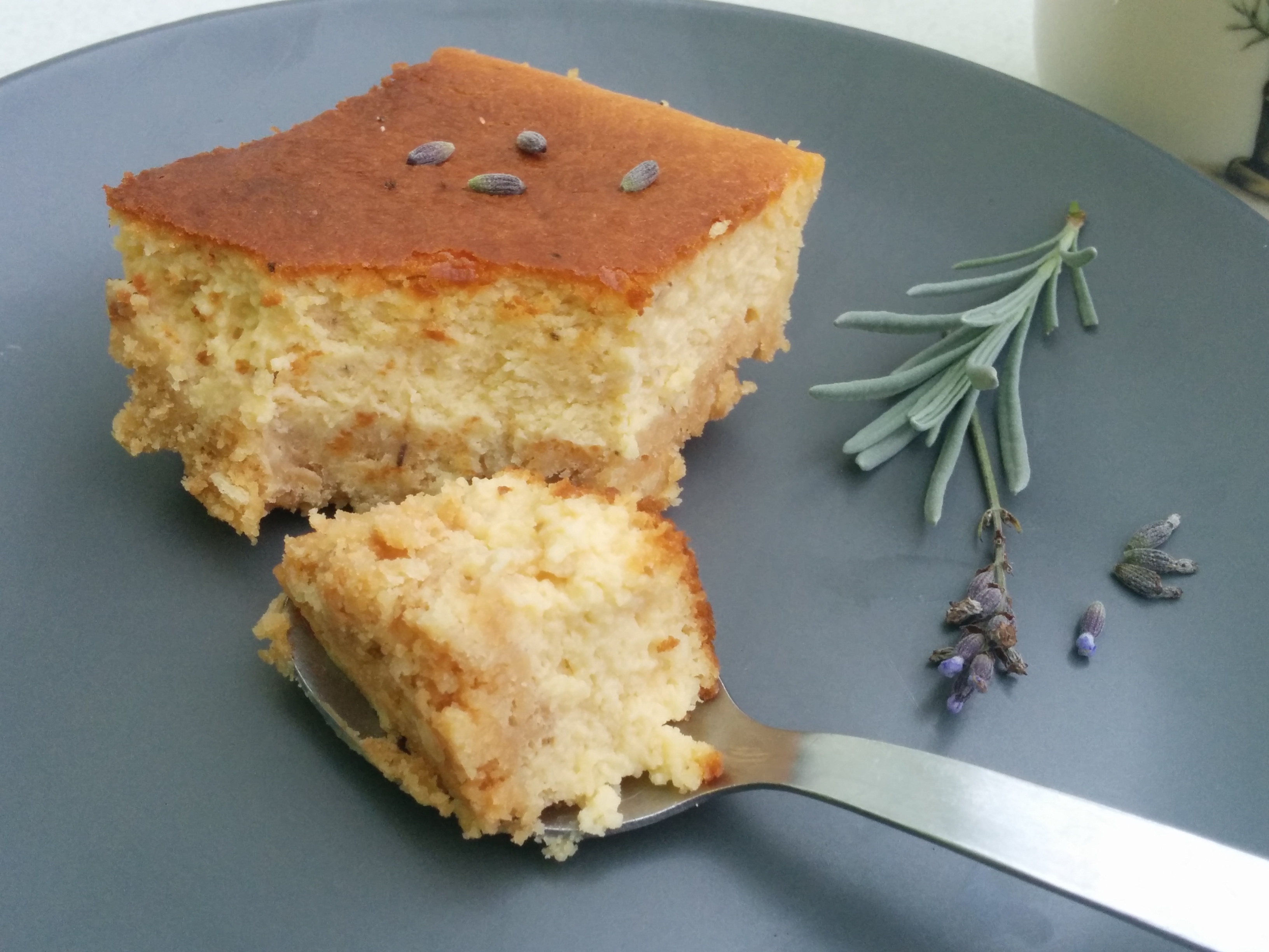 Recipe: Baked Earl Grey Cheesecake with Lavender