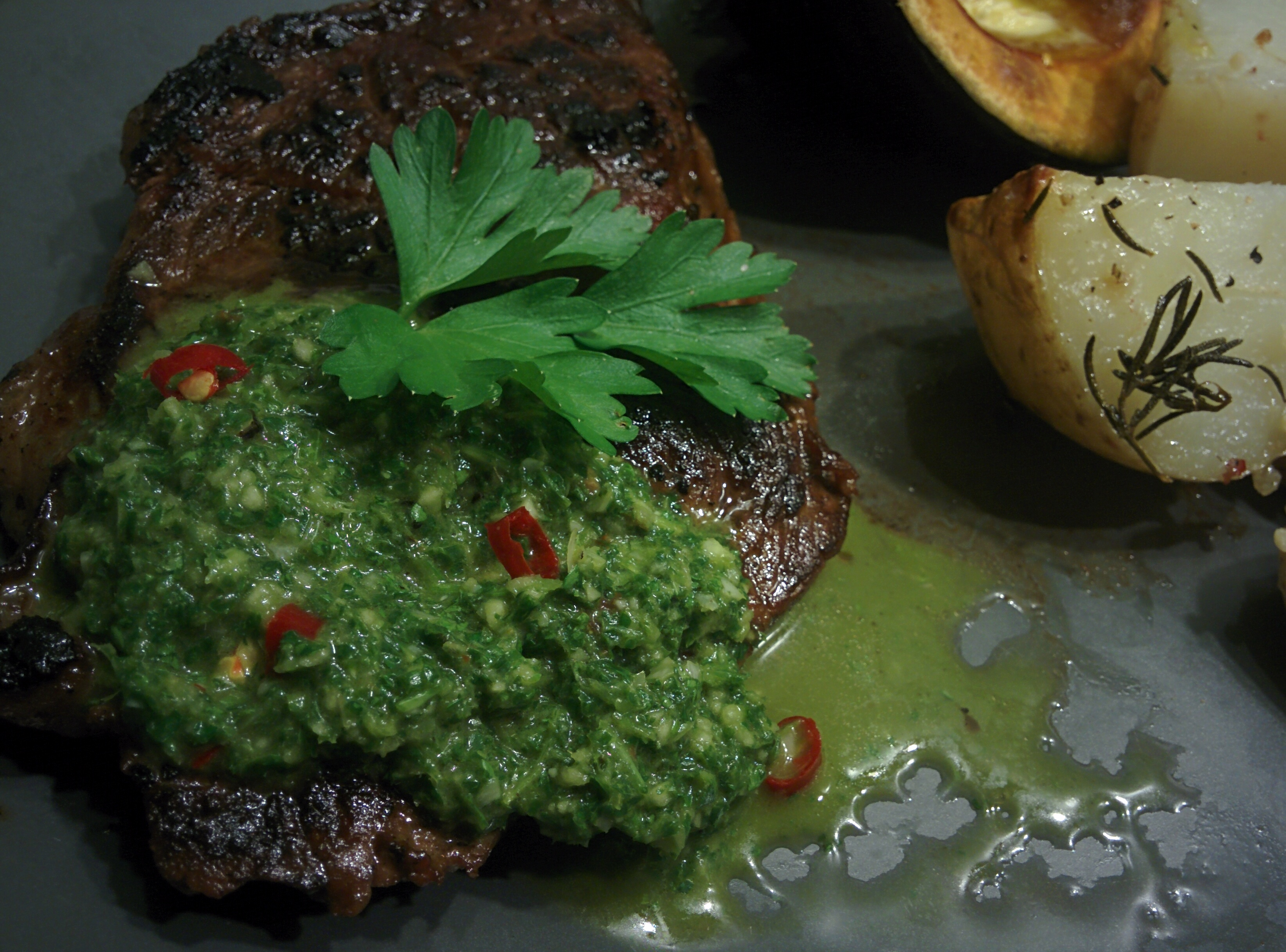 Chimichurri – Argentinian Green Sauce for Grilled Meat