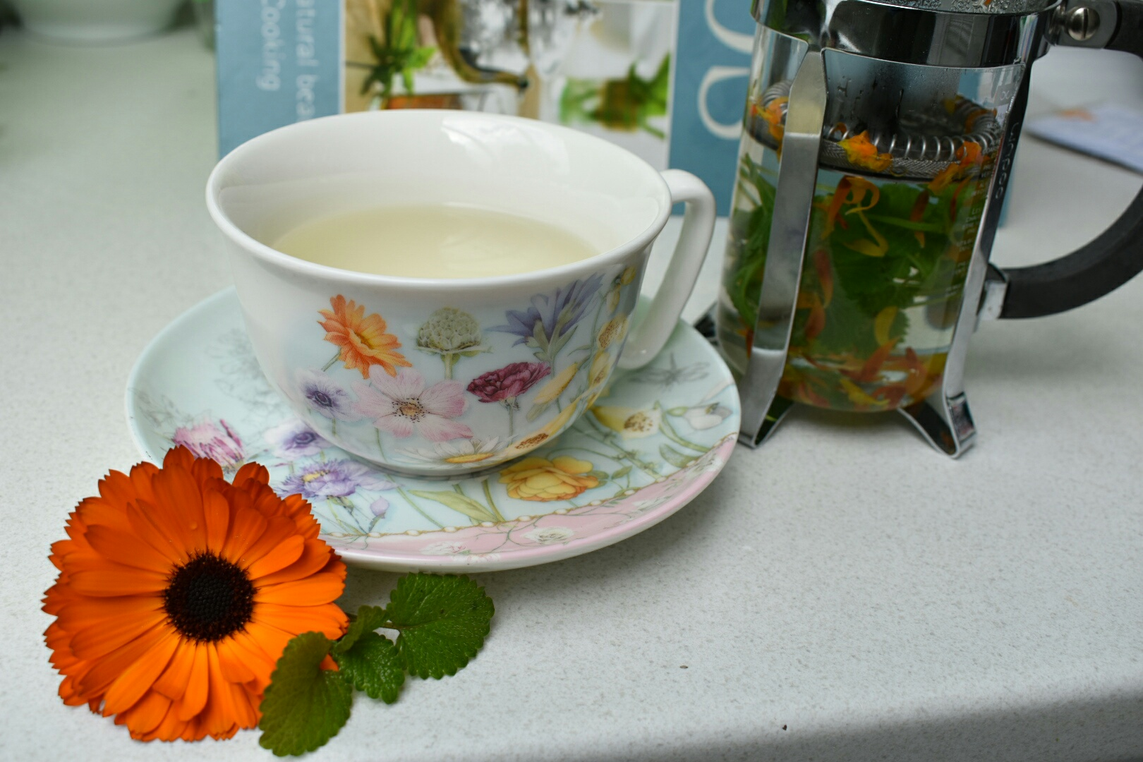 Calendula and Lemon Balm Tea